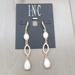 INC gold and opal earrings